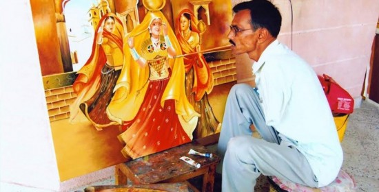 Mouth and Foot Painting artists-India